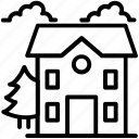 building, farmhouse, agricultural building, rural house, country house