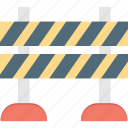 traffic barrier, road barrier, construction barrier, street barrier, barrier icon