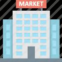 bank, building, market, real estate, stock exchange icon