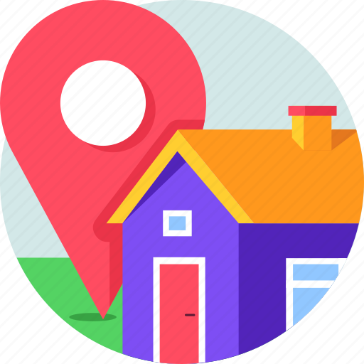 estate, home, house, location, map, property, real estate icon