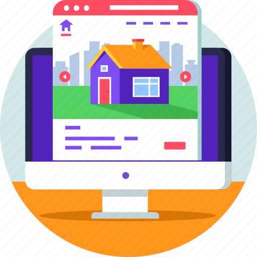 for sale, invest, online, property, real estate, website icon