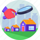 house, invest, investor, property, real estate, search icon