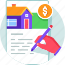 agreement, contract, deal, document, loan, signature icon