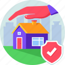 invest, property, protect, protection, realestate, residential, security icon