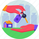 home, house, key, owner, real estate, safe icon