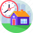 invest, money, property, real estate, sale, time icon