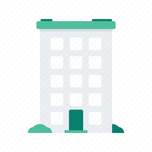 apartment, building, estate, property, real icon