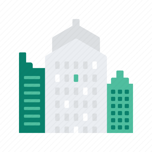 apartment, building, city, estate, property, real icon