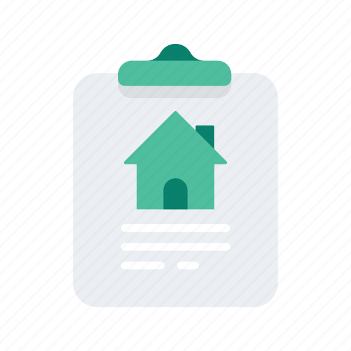 clipboard, clipchart, estate, property, real icon