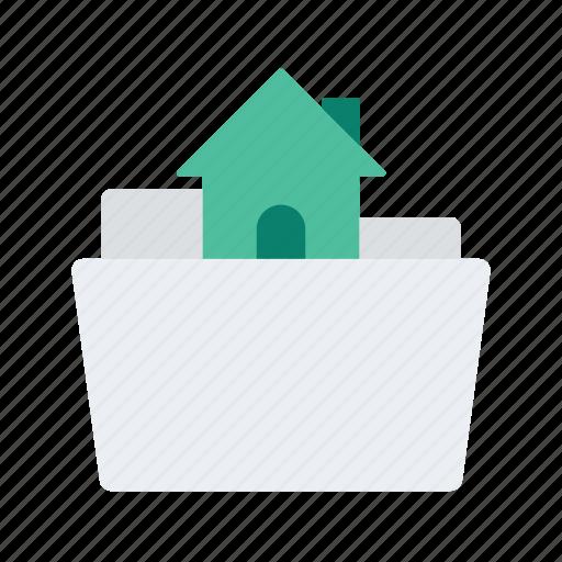 estate, file, folder, house, property, real icon