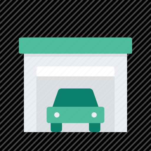 car, estate, garage, property, real icon