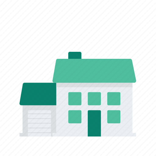 estate, garage, home, property, real icon