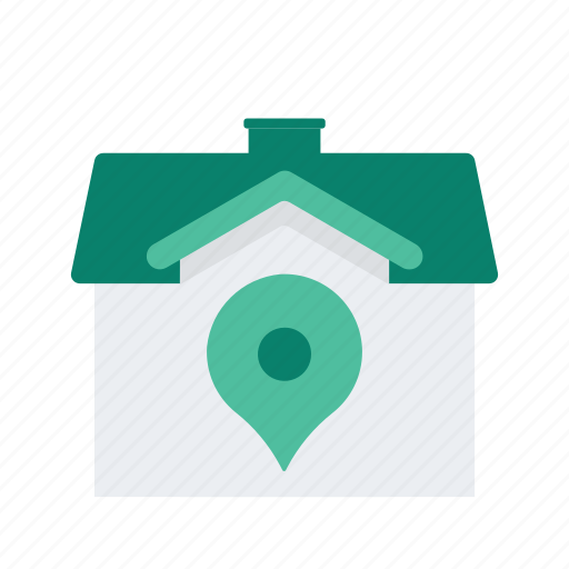 estate, house, location, pin, property, real icon