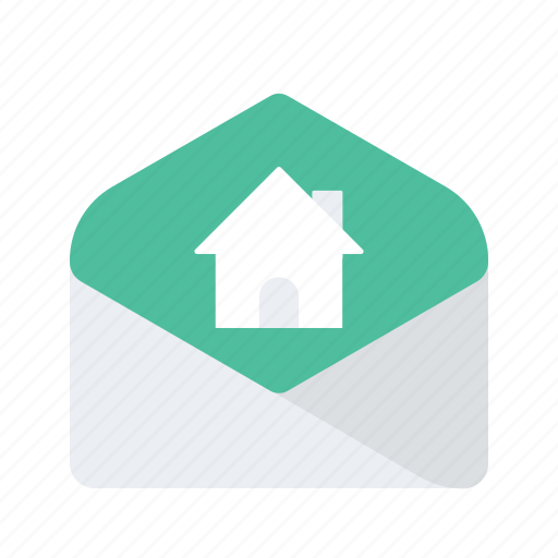 email, estate, mail, message, property, real icon