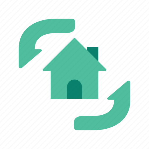 estate, house, property, real, refresh icon