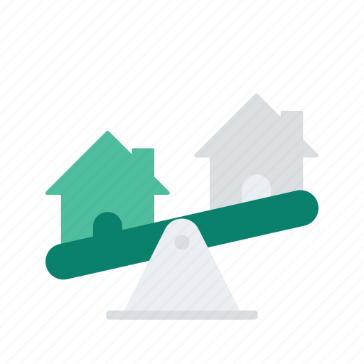 estate, property, real, scale, weigh icon