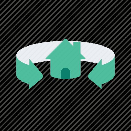 estate, house, property, real, surrounding icon
