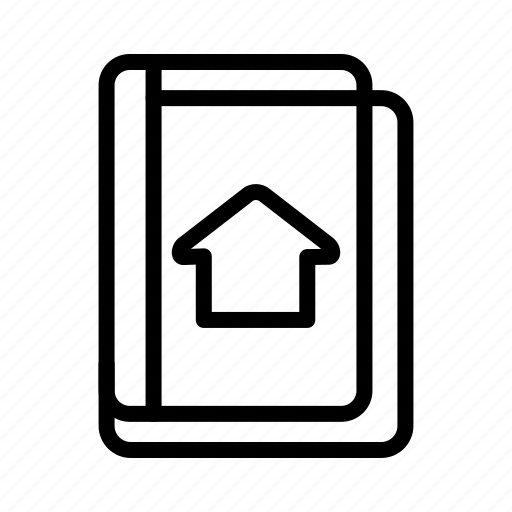 address book, book, knowledge, library icon
