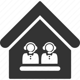 building, call center, house, office, real estate, reception, support icon