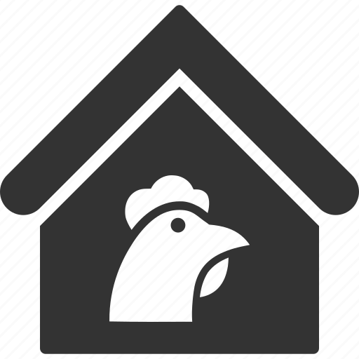 building, chicken, farm, hen house, home, house, real estate icon
