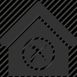 apartment, building, delete, erase, home, house, real estate icon