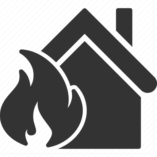 building, burn, damage, disaster, fire, home, real estate icon