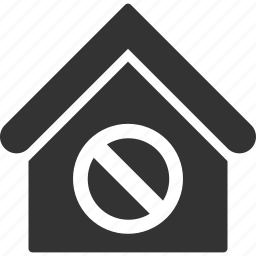 assets, forbidden, home, house, jail, official building, real estate icon