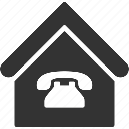 building, home, house, inn, public phone, real estate, telephone icon