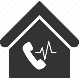 building, communication, hall, home, house, phone station, real estate icon