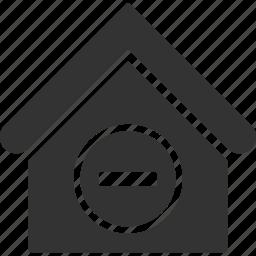 building, cancel, delete, home, house, real estate, remove icon