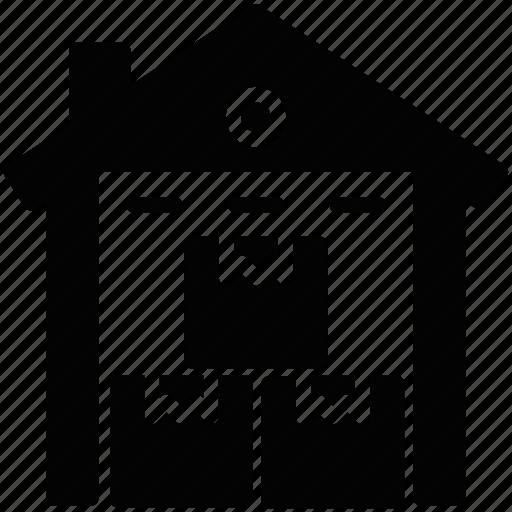godown, storage unit, storehouse, storeroom, warehouse icon