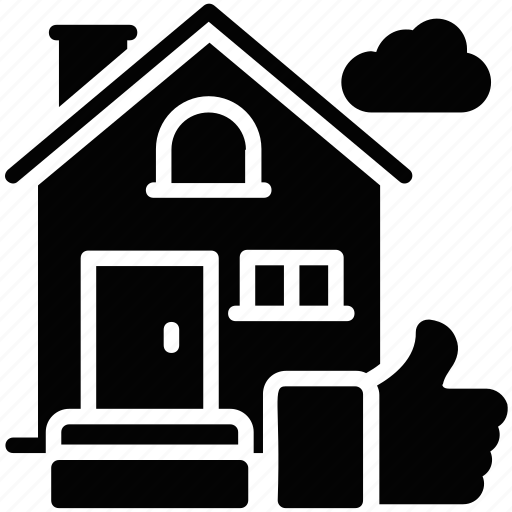 best home, property agreement, property rating, real estate rating, thumbs up icon