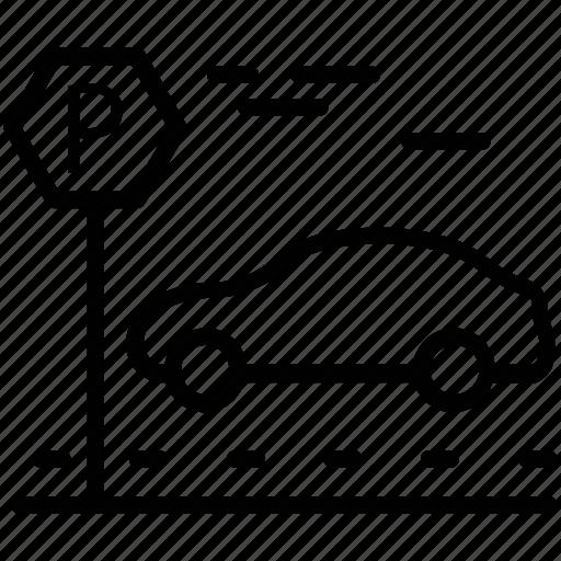 car parking, carport, garage, house garage, parking area icon
