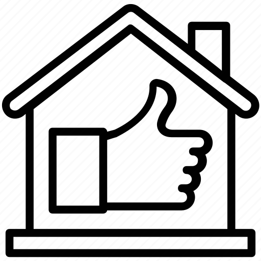best property, property agreement, property rating, real estate rating, thumbs up icon