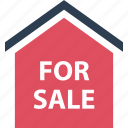 estate, for, home, house, real, sale, shopping icon
