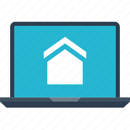 estate, home, house, laptop, real, shopping icon