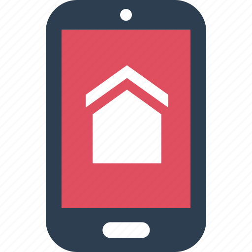 estate, home, mobile, real, searching, shopping icon