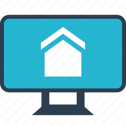 estate, home, house, monitor, real, shopping, website icon