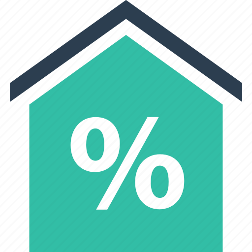 estate, home, interest, percentage, rate, real, shopping icon