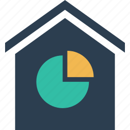chart, estate, home, house, pie, real, shopping icon