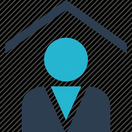 customer, estate, family, home, real, realtor, shopping icon