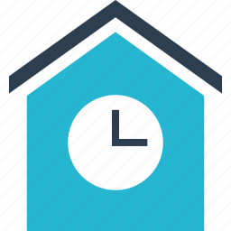 clicking, estate, home, house, real, shopping, time icon