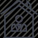 boss, home, housing, owner, user icon
