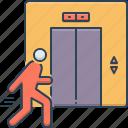 elevator, lift, people, staff