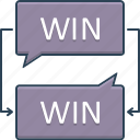 collaborate, discourse, negotiation, win, win win negotiation
