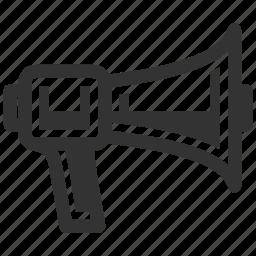 bullhorn, megaphone, real estate news icon