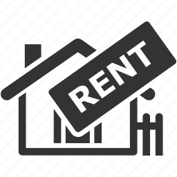 house, real estate, rent home, rent sign icon