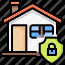 real, estate, home, insurance, safe, security, padlock