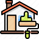 real, building, estate, house, painting, paint