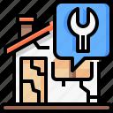 real, renovation, maintenance, wrench, estate, repair, home